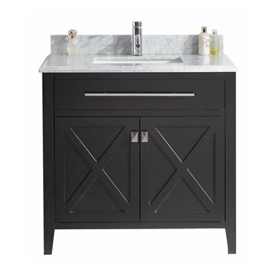 Wimbledon 36 Single Bathroom Vanity Set Base Finish: Espresso