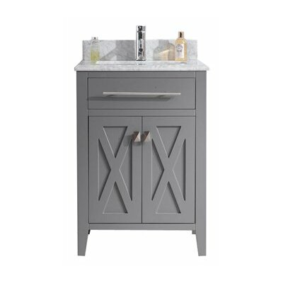 Wimbledon 24 Single Bathroom Vanity Set Base Finish: Gray