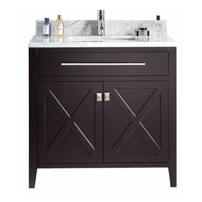 Wimbledon 36 Single Bathroom Vanity Set Base Finish: Brown