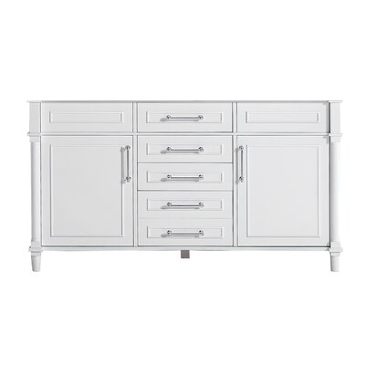 Continental 60 Double Bathroom Vanity Base Base Finish: White