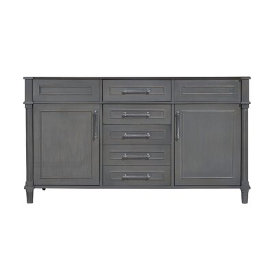 Continental 60 Double Bathroom Vanity Base Base Finish: Maple Gray
