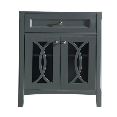 Grazia 32 Single Bathroom Vanity Base Base Finish: Gray