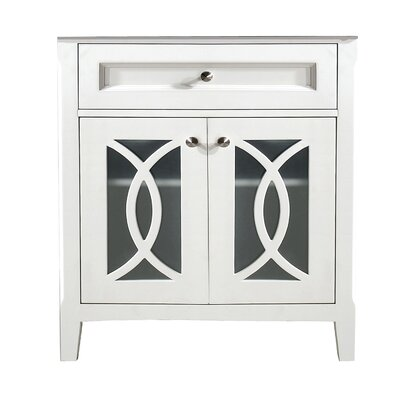 Grazia 32 Single Bathroom Vanity Base Base Finish: Soft White