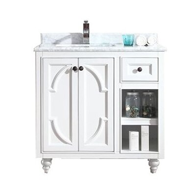 Odyssey 36 Single Bathroom Vanity Base Finish: White