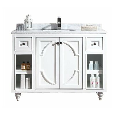 Odyssey 48 Single Bathroom Vanity Base Base Finish: White