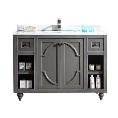 Odyssey 48 Single Bathroom Vanity Base Finish: Maple Gray