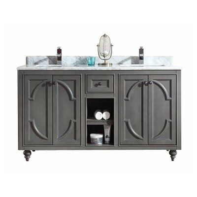 Odyssey 60 Double Bathroom Vanity Base Base Finish: Maple Gray