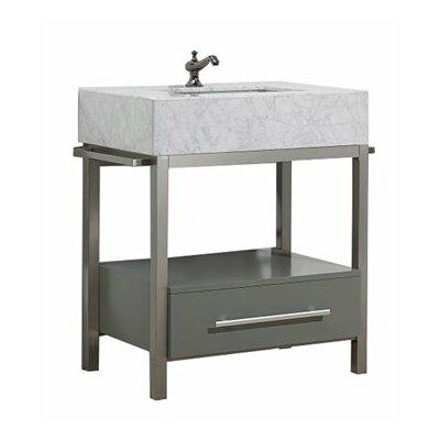 Denali 30 Single Bathroom Vanity Set Base Finish: Maple Gray