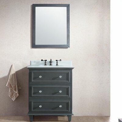 Luna 30 Single Bathroom Vanity Set with Mirror Base Finish: Maple Gray