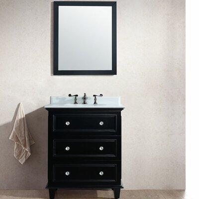 Luna 30 Single Bathroom Vanity Set with Mirror Base Finish: Espresso