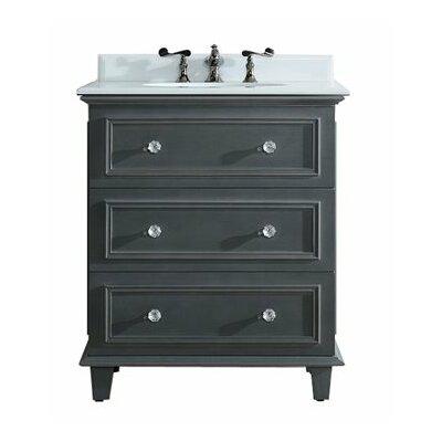 Luna 30 Single Bathroom Vanity Set Base Finish: Maple Gray