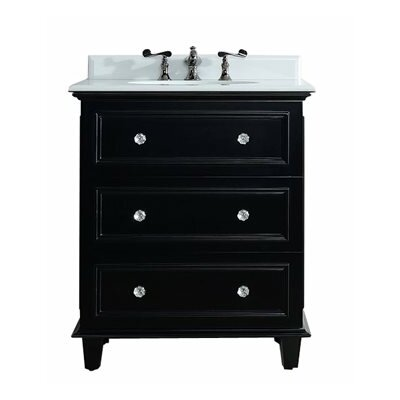 Luna 30 Single Bathroom Vanity Set Base Finish: Espresso