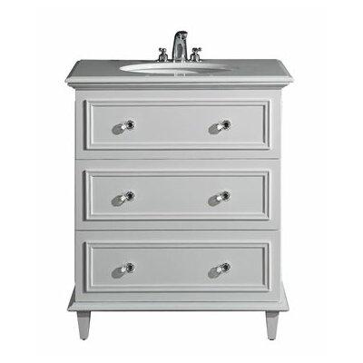 Luna 30 Single Bathroom Vanity Set Base Finish: White