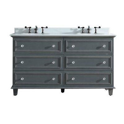Luna 60 Double Bathroom Vanity Set Base Finish: Maple Gray