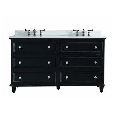Luna 60 Double Bathroom Vanity Set Base Finish: Espresso