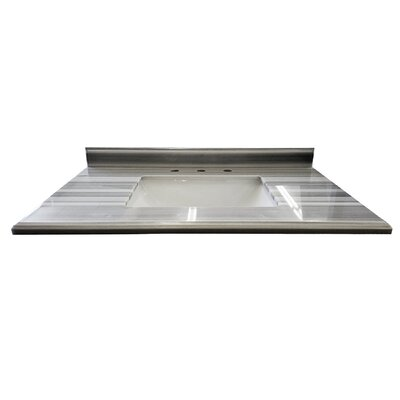 Continental 36 Single Bathroom Vanity Top Top Finish: Gray/White Stripes