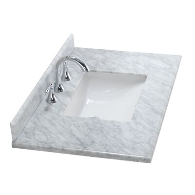 Continental 36 Single Bathroom Vanity Top Top Finish: White Carrera