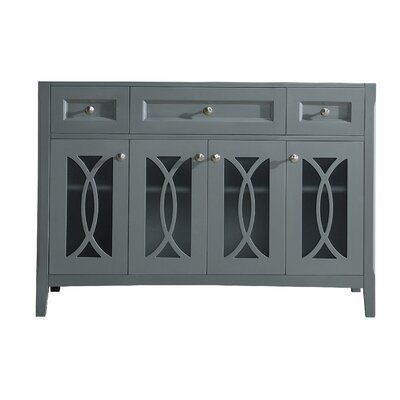 Grazia 49 Single Bathroom Vanity Base Base Finish: Gray