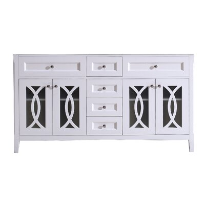 Grazia 61 Double Bathroom Vanity Base Base Finish: Soft White