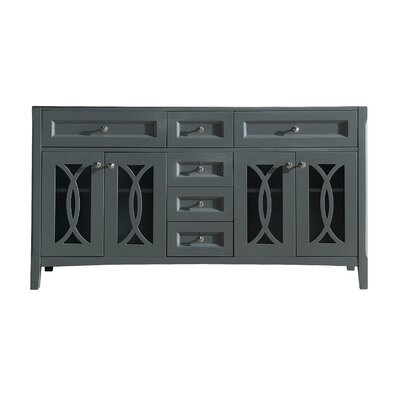 Grazia 61 Double Bathroom Vanity Base Base Finish: Gray