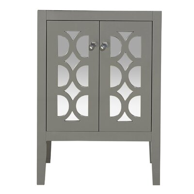 Mediterraneo 24 Single Bathroom Vanity Base Base Finish: Gray