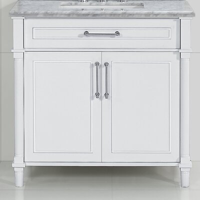 Continental 36 Single Bathroom Vanity Base Base Finish: White