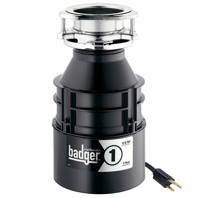 Badger 1/3 HP Continuous Feed Garbage Disposal BADGER 1 W/C