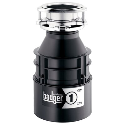 Badger 1/3 HP Continuous Feed Garbage Disposal BADGER 1