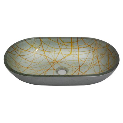 Glass Oval Vessel Bathroom Sink