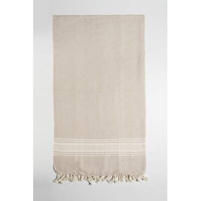 Bath Towel Color: Beige/Cream