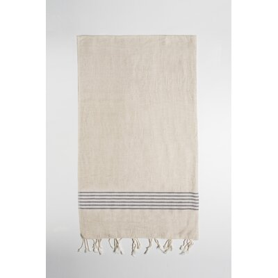 Bath Towel Color: Beige/Gray
