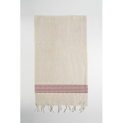 Bath Towel Color: Beige/Burgundy