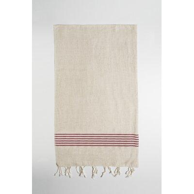 Eastfield Bath Towel Color: Beige/Burgundy