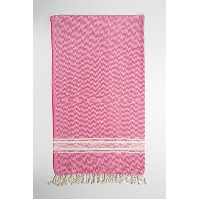 Bath Towel Color: Pink/Cream