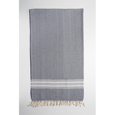 Bath Towel Color: Blue/Cream