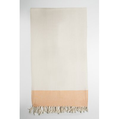 Bath Towel Color: Cream/Orange
