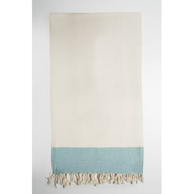Bath Towel Color: Cream/Blue