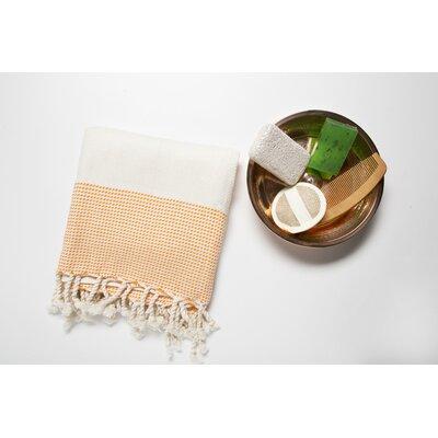 6 Piece Bath Towel Set Color: Cream/Orange