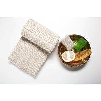 6 Piece Bath Towel Set Color: Beige/Cream