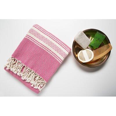6 Piece Bath Towel Set Color: Pink/Cream