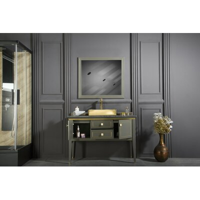 Claysville 48 Single Bathroom Vanity Set with Mirror