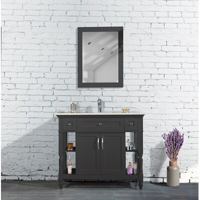 Burbank Bathroom Vanity Set 42 Base Finish: Anthracite