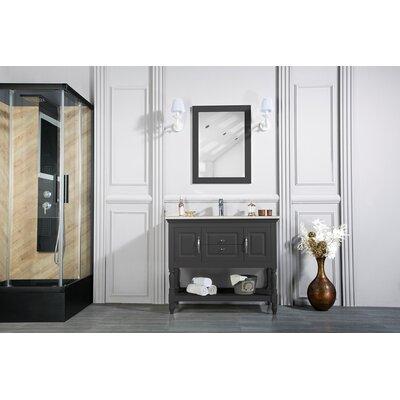 Bury 42 Single Bathroom Vanity Set with Mirror Base Finish: Anthracite