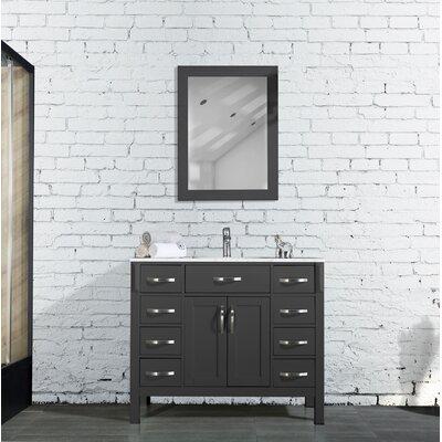 Peavy 42 Single Bathroom Vanity with Mirror