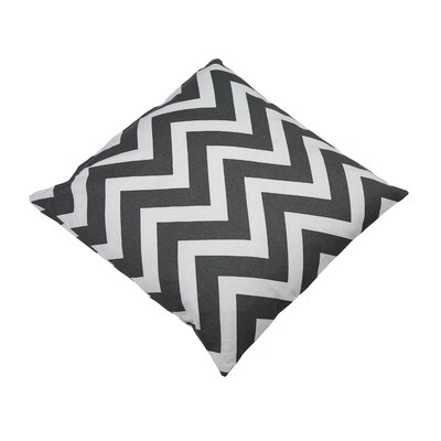 Shreffler Chevron Stripe 100% Cotton Throw Pillow Color: Charcoal
