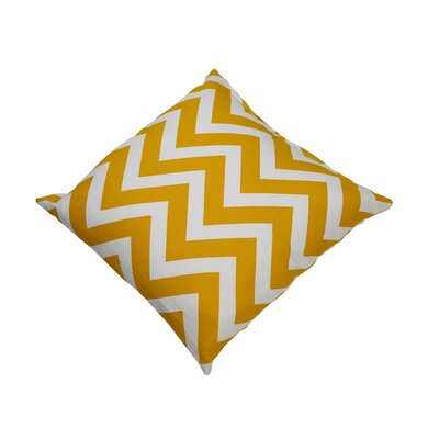 Shreffler Chevron Stripe 100% Cotton Throw Pillow Color: Light Yellow