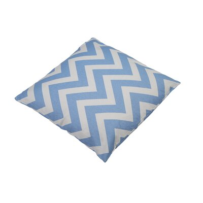 Shreffler Chevron Stripe 100% Cotton Throw Pillow Color: Powder Blue