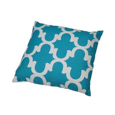 Shreve Trellis 100% Cotton Throw Pillow Color: Powder Blue