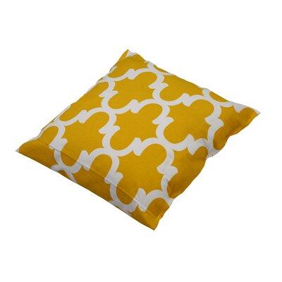 Shreve Trellis 100% Cotton Throw Pillow Color: Yellow