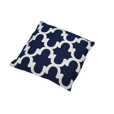 Shreve Trellis 100% Cotton Throw Pillow Color: Navy Blue